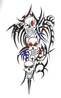Tribal-skulls by Metal-Psycho