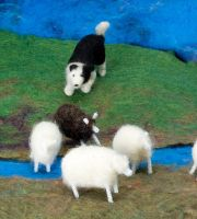 Sheep Herder- Felted Fuzzies by feltAliza