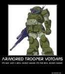 Armored Trooper Votoms Motivational Poster by slyboyseth