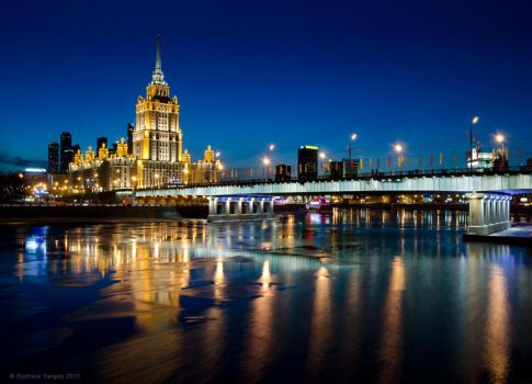 Moscow, hotel Ukraine (Radisson Royal) by Sergey-Ryzhkov