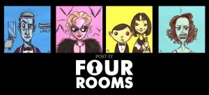 POST IT FOUR ROOMS by QuinteroART