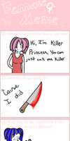 female OC meme: killer princess by ask-killerprincess