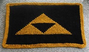Triforce Door Mat by Craftigurumi