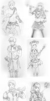 Random character designs XD PART 2 by Sithlord43