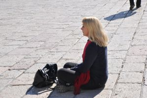 Focused on the Wailing Wall at Jerusalem by Rikitza