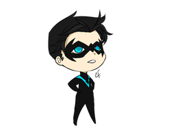 Robin chibi: Dick Grayson by CassperClearie
