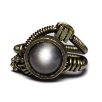 Silver Moon Steampunk ring by CatherinetteRings
