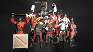 The TF2 Team (WIP) by Professor-Heavy