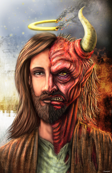 Satan Jesus by thesadpencil