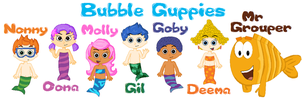 Bubble Guppies Cast by Kip430