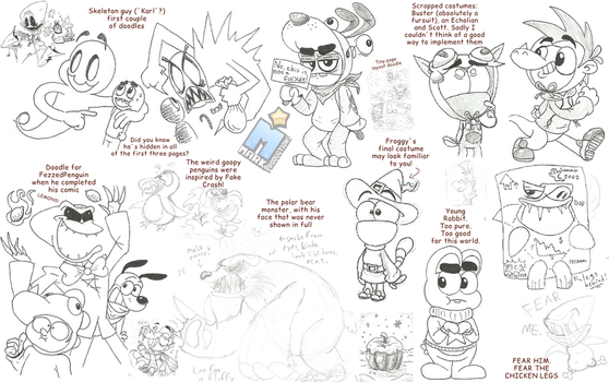Sketches #37 - Shiverween madness! (RandD) by MarkProductions
