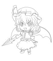 Remilia Scarlet lineart by NassuArt