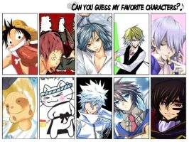 Can you guess my favorite characters? by DaysuPro