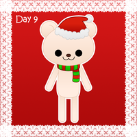 Christmas day 9: polar bear by to-much-a-thing