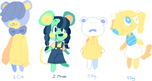 Adoptables - Animal Crossing [Open] by Snovve