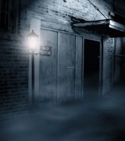 premade background haunted street 2 by H-stock