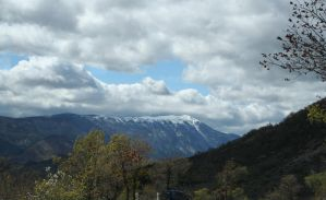 snowy mountains provence by ingeline-art