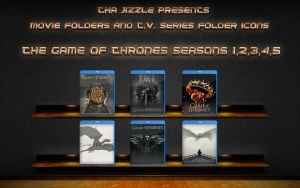 Game Of Thrones T.V. Series Season Folders by ThaJizzle