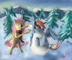 Snowman Dash by Miokomata