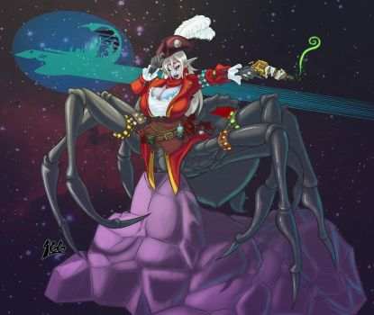 Yalla, Captian of the Spelljammer by Kinathis