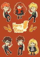 Harry Potter Chibis by peach-pulp