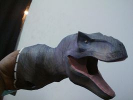 T rex Papercraft 2nd Version With texture WIP by Alejandr0-M