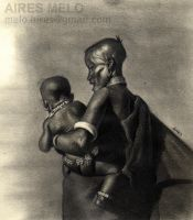 African Woman And Child final by hirix