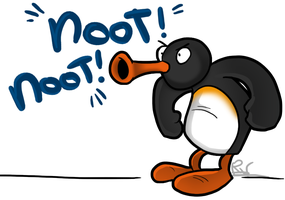 Very Important Penguin by Ribbedebie