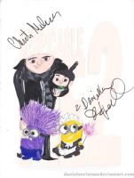 Despicable me 2 signed by danielaurista