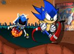 Metal Sonic vs Sonic by geogant