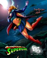Supergirl-in-the-moon by tecnoguru
