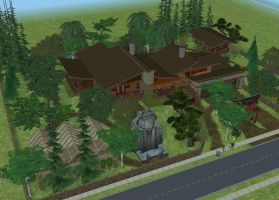 Sims 2 Tropical house by RamboRocky