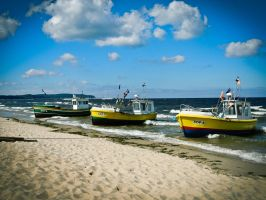 Fishing Boats by Ajumska