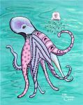 Stained Glass Octopus by kittyl7