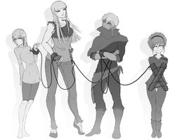 Original Characters Sketch - Updated by BethanyFrye