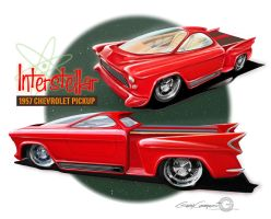 1957 Chevy Custom Pickup by GaryCampesi