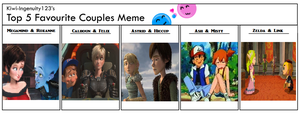 Top 5 Favourite couples by Nintendo-Lover-Kat