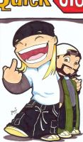 Chibi-Jay and Silent Bob. by hedbonstudios