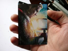 thor sketch card by DavidDeb