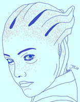 Liara Speed Sketch by DoranBladefist