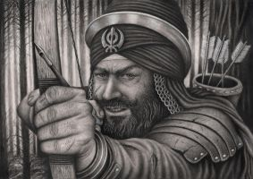 'Banda Singh Bahadur' Graphite Drawing by Pen-Tacular-Artist