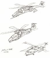 Helicopter Sketches 1 by Tribble-Industries