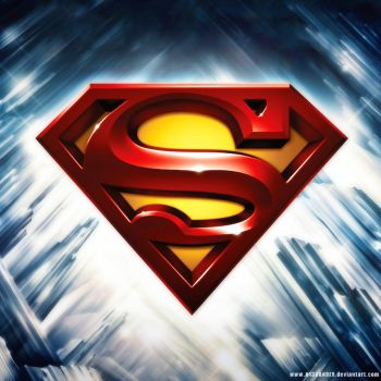 iPad Superman Shield by A13XANDER