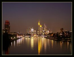Frankfurt in the evening by kine80