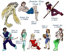 Protector Elves Group 6 by lethe-gray