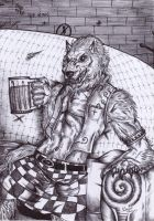 Scottish Alpha Werewolf by FuriarossaAndMimma