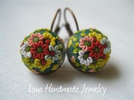 Dancing Flowers by LenaHandmadeJewelry