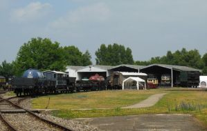 Rolling Stock Outside Didcot Carriage Shed by rlkitterman