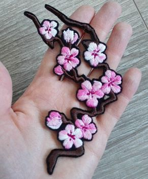 FOR SALE: Cherry Blossom branch ~Embroidered patch by goiku