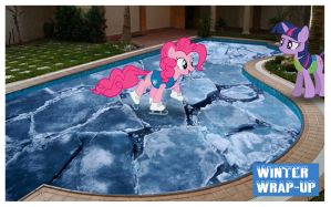 Winter Wrap-Up Ice Skating Pool by GreenMachine987